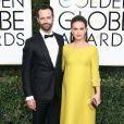 Benjamin Millepied et sa femme Natalie Portman (enceinte) - 74ème cérémonie annuelle des Golden Globe Awards à Beverly Hills. Le 8 janvier 2017.