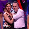 """Julien Lepers éliminé, et Silvia - """"Danse avec les stars 7"""" sur TF1. Le 10 novembre 2016."""