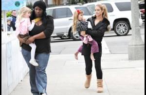 PHOTOS : La jolie Denise Richards et ses adorables fillettes... des larmes et des bisous !
