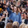 Clare Waight Keller (directrice de la création de Chloé) - Défilé de mode Chloé collection prêt-à-porter automne-hiver 2016/2017 à Paris, le 3 mars 2016.