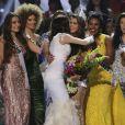 La Française Iris Mittenaere couronnée Miss Univers; Choisie face à ses 85 concurrentes, la Française Iris Mittenaere a été élue lundi 30 janvier Miss Univers lors d'un concours télévisé organisé à Manille, aux Philippines le 30 janvier 2017. © Linus Guardian Escandor Ii via ZUMA Wire / Bestimage