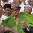 Exclusif - Yannick Noah - Cérémonie traditionnelle lors des obsèques de Zacharie Noah à Yaoundé au Cameroun, le 18 janvier 2017.