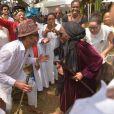 Exclusif - Yannick Noah - Cérémonie traditionnelle lors des obsèques de Zacharie Noah à Yaoundé au Cameroun le 18 janvier 2017