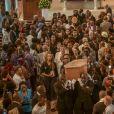 Exclusif - Eleejah Noah, Joalukas Noah, Jean-Claude Camus, Jenaye Noah et Yannick Noah - Messe en la paroisse Sainte-Marie Médiatrice d'Etoudi pour les obsèques de Zacharie Noah à Yaoundé au Cameroun le 17 janvier 2017.
