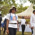 Exclusif - Nathalie Noah et son frère Yannick Noah - Cérémonie traditionnelle lors des obsèques de Zacharie Noah à Yaoundé au Cameroun le 18 janvier 2017.