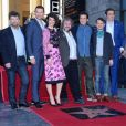 Andy Serkis, Richard Armitage, Evangeline Lilly, director Sir Peter Jackson, Orlando Bloom, Elijah Wood, Lee Pace - Peter Jackson reçoit son étoile sur le Walk of Fame à Hollywood, le 8 décembre 2014