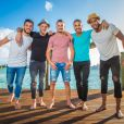 "Anthony, Jordan, Jonathan, Mickaël, Senna, candidats des ""Anges 9"", photo officielle"