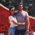 Maxime Médard et sa compagne Clémence (ici lors de leurs vacances à Rio début 2016) ont eu leur premier enfant, Louison, le 24 décembre 2016.