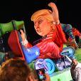 Donald Trump caricaturé sur le char Wind of Change durant le 1er corso du Carnaval de Nice 2017, à Nice, France, le 11 février 2017. © Bruno Bebert/Bestimage