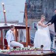 Pierre Casiraghi et Beatrice Borromeo lors de leur mariage le 1er août 2015 au château Rocca Angera sur les Iles Borromées, sur le Lac Majeur.