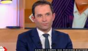"""Benoît Hamon invité de """"C à vous"""", sur France 5, le 14 février 2017."""