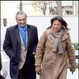 François et Conrada de la Brosse rendent visite à Rachida Dati à la clinique de la Muette, le 4/01/09