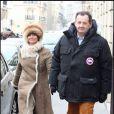 Guillaume Sarkozy et son épouse rendent visite à Rachida Dati à la clinique de la Muette, le 4/01/09