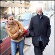 Monsieur Dati et sa fille Nadia à la clinique de la Muette, le 3/01/09