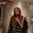 Paris Hilton fête son 36e anniversaire dans un club de Manhattan avec sa soeur Nicky Hilton, ses copines Ashley Benson et Bethenny Frankel ainsi qu'un charmant jeune homme. Photo publiée sur Snapchat le 16 février 2017.