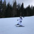 Harper Beckham en vacances au ski, à la station  Whistler, au Canada, février 2017.