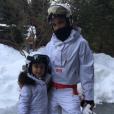Victoria et Harper Beckham en vacances au ski, à la station  Whistler, au Canada, février 2017.