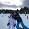 Cruz et Harper Beckham en vacances au ski, à la station  Whistler, au Canada, février 2017.