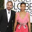 Marco Perego et sa femme Zoe Saldana - 74ème cérémonie annuelle des Golden Globe Awards à Beverly Hills. Le 8 janvier 2017