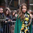 Xenia Tchoumitcheva- Défilé de mode Topshop Unique lors de la Fashion Week de Londres, le 19 février 2017.