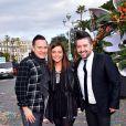 Jean-Marc Généreux, Priscilla Betti et Chris Marques - La troupe de Danse avec les Stars participe à la 4ème bataille de Fleurs dans le cadre du Carnaval 2016 à Nice le 24 février 2016.