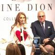 Céline Dion a présenté sa collection de maroquinerie avec Bugatti, à Las Vegas, le 21 février 2017
