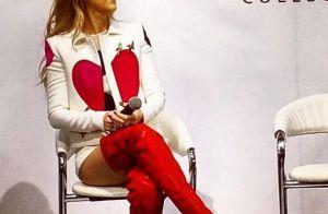 Céline Dion, en cuissardes, provoque la cohue pour présenter sa collection !