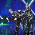 """Exclusif - Robot Boys, Duo Mimes (Danemark) - Enregistrement de l'émission """"Le plus grand cabaret du monde"""" à La Plaine Saint-Denis, diffusée le 25 février 2017. Le 21 février 2017 © Giancarlo Gorassini / Bestimage"""
