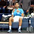 Novak Djokovic s'incline face à Marin Cilic lors des BNP Paribas Masters 2016 à l'AccorHotels Arena à Paris le 4 novembre 2016. © Veeren / Cyril Moreau / Bestimage