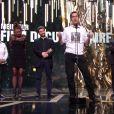 Le réalisateur de Merci Patron, meilleur documentaire, pendant la cérémonie des César 2017.