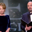 Nathalie Baye et Jérôme Commandeur pendant la cérémonie des César 2017.