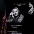 Imany pendant l'hommage aux morts des César 2017.