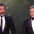 George Clooney et Jean Dujardin pendant les César 2017.