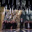Hommage à Jean-Paul Belmondo aux César 2017.
