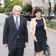 Dominique Strauss-Kahn et sa femme Anne Sinclair à Washington, le 29 août 2011.