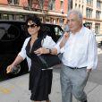 Dominique Strauss-Kahn et sa femme Anne Sinclair à New York le 12 juillet 2011