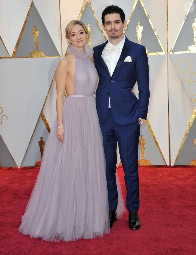 Damien Chazelle et sa compagne Olivia Hamiltonlors de la cérémonie des Oscars le 26 février 2017 à Los Angeles