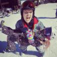 Pink en vacances au ski avec son mari Carey Hart et leur fille Willow - photo publiée sur Instagram en février 2017
