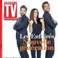 """Kendji Girac, Jenifer et Amir en couverture de """"TV Magazine"""", programmes du 26 février eu 4 mars 2017."""