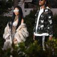 Nicki Minaj et Future sur le tournage d'un nouveau clip à Miami. Le 27 février 2017.