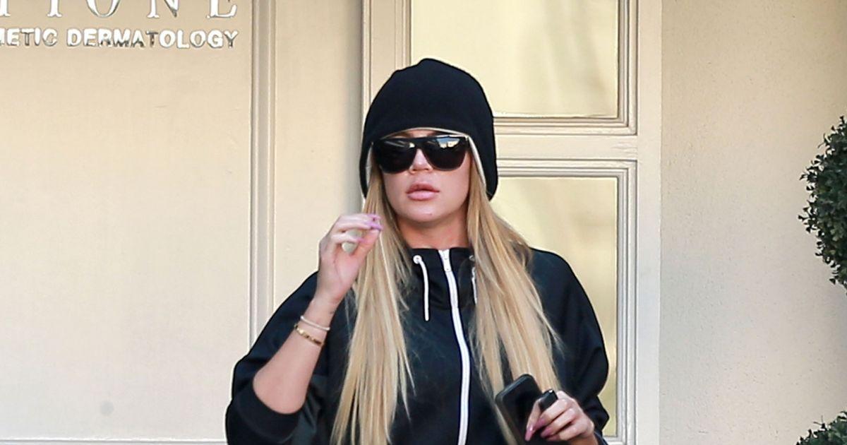 exclusif khloe kardashian la sortie du dermatologue