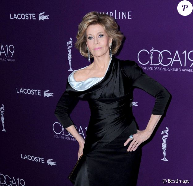 Jane Fonda lors de la 19ème soirée des Costume Designers Guild Awards (CDGA) à l'hôtel The Beverly Hilton à Los Angeles, Californie, Etats-Unis, le 21 février 2017. © Birdie Thompson/AdMedia/Zuma Press/Bestimage