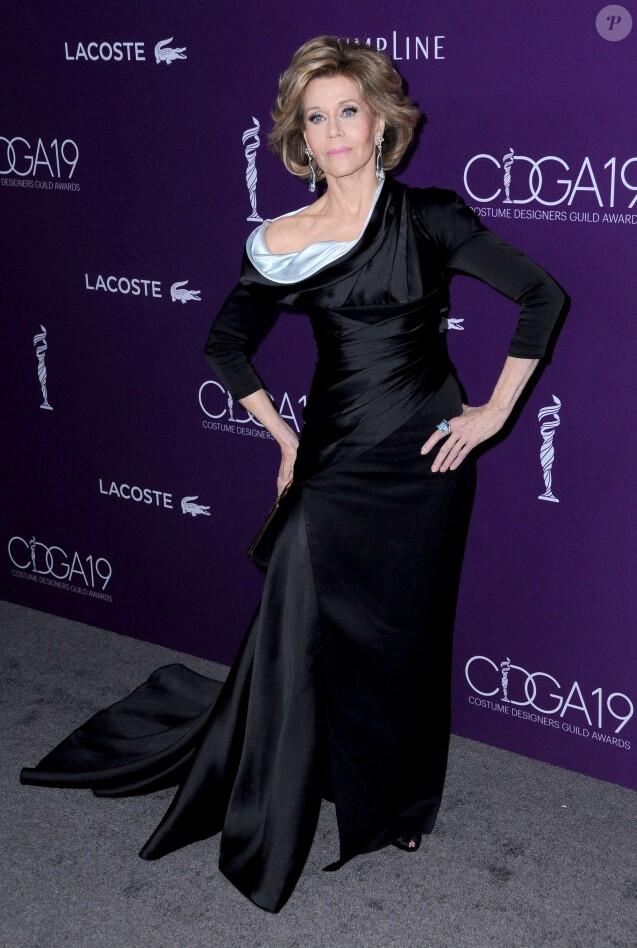 Jane Fonda lors de la 19ème soirée des Costume Designers Guild Awards (CDGA) à l'hôtel The Beverly Hilton à Los Angeles, Californie, Etats-Unis, le 21 février 2017. © Birdie Thompson/AdMedia/Zuma Press/Bestimage