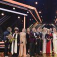 Géraldine Chaplin, Jane Fonda, Nicole Kidman et Colin Farrell - Remise des prix des 52ème cérémonie des Goldene Kamera Awards à Hambourg le 4 mars 2017.