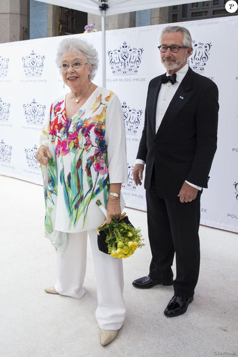 """La princesse Christina de Suède et son mari Tord Magnuson à la remise de prix """"Polar Music Prize 2016"""" à Stockholm en Suède le 16 juin 2016."""