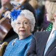 La princesse Christina de Suède et son mari Tord Magnuson au Te Deum en l'honneur du 70e anniversaire du roi Carl XVI Gustaf de Suède au palais royal à Stockholm le 30 avril 2016