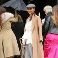 """Flora Coquerel - Arrivées au défilé de mode prêt-à-porter automne-hiver 2017/2018 """"Giambattsita Valli"""" à Paris. Le 6 mars 2017 © CVS / Veeren / Bestimage"""