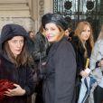 """Exclusif - Cyrielle Clair à l'issue défilé de mode """"Léonard Paris"""", collection prêt-à-porter Automne-Hiver 2017-2018 au Grand Palais à Paris, le 6 Mars 2017.© CVS/Veeren/Bestimage"""