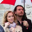 Lara Fabian et son mari Gabriel Di Giorgio assistent à la ducasse de Mons en Belgique, le 22 mai 2016