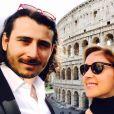 Lara Fabian et son mari Gabriel à Rome, le 18 février 2017.